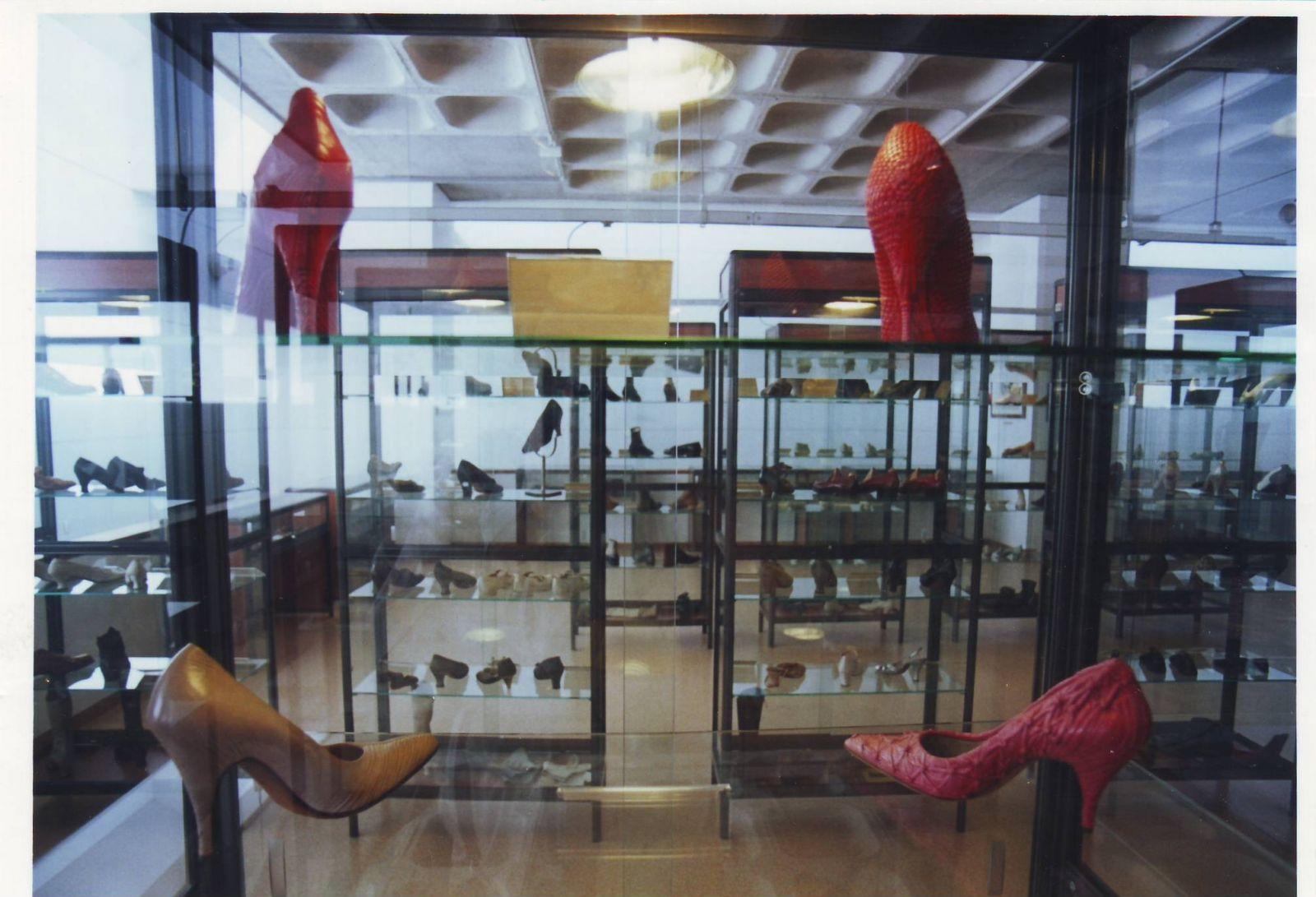Vista parcial de la sala que contiene las colecciones de zapatos
